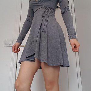 UO Faux Wrap Skater Dress (2 for $50)